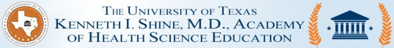 The University of Texas Kenneth I. Shine, M.D., Academy of Health Science Education Logo