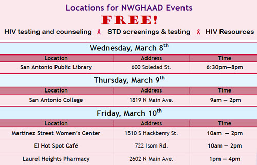 NWGHAAD schedule