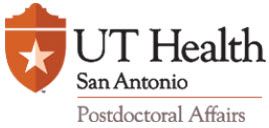 UT Health San Antonio Postdoctoral Affairs Logo