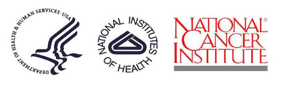 logos for Department of Health and Human Services USA, National Institutes of Health, National Cancer Institute
