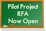 Chalkboard with Pilot Project RFA Now Open Image